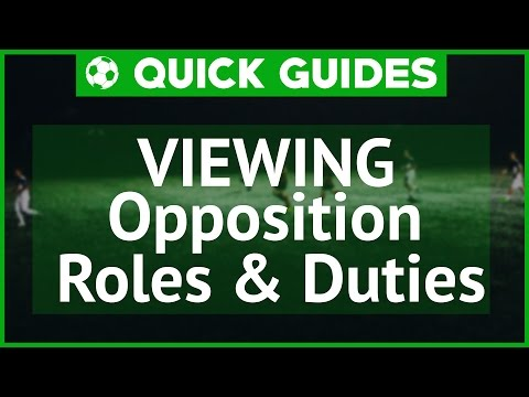 QUICKGUIDES - Viewing Opposition Roles Football Manager 2017