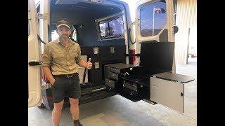 customized drifta van fitout new kitchen