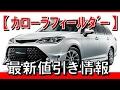 トヨタ カローラフィールダーの値引き相場情報 の動画、YouTube動画。