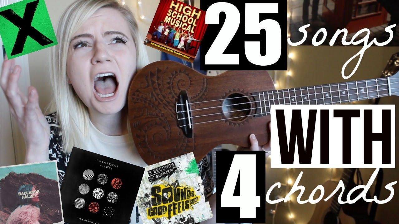 4 chords 25 songs on ukulele youtube hexwebz Gallery