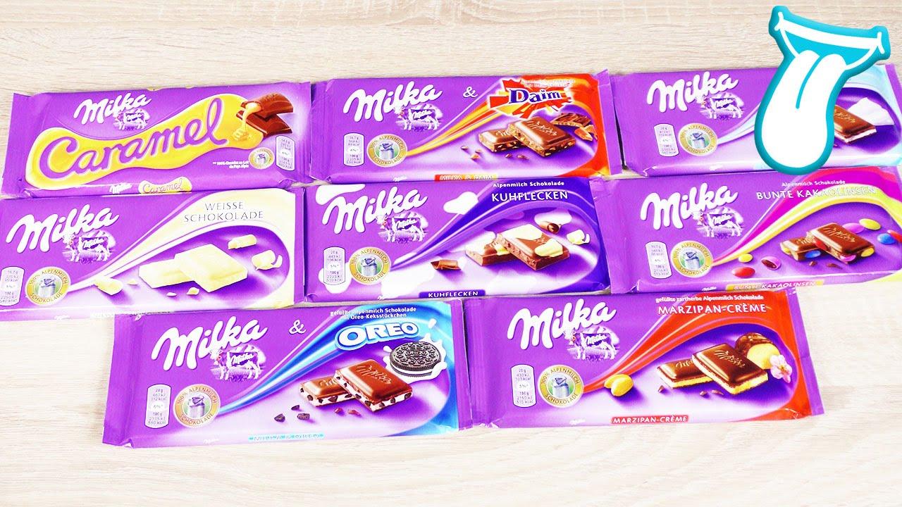 mega milka schokolade battle s igkeiten test und tasten foodtest deutsch 8 sorten. Black Bedroom Furniture Sets. Home Design Ideas