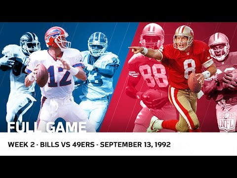 Jim Kelly vs. Steve Young Shootout  Bills vs. 49ers Week 2, 1992  NFL Full Game
