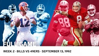 Jim Kelly vs. Steve Young Shootout | Bills vs. 49ers Week 2, 1992 | NFL Full Game