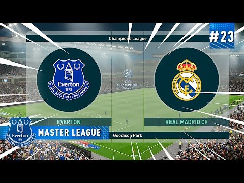 O HISTÓRICO REAL MADRID x EVERTON  - MASTER LEAGUE 23  PES 2019