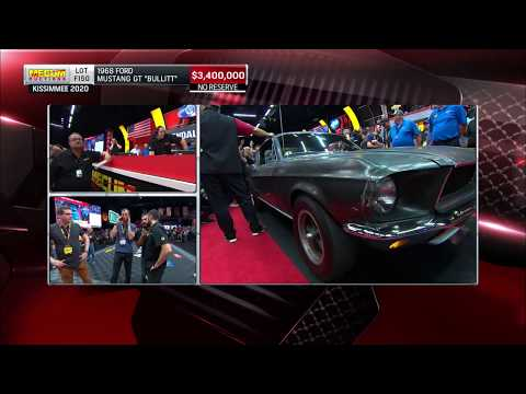 "1968 ""Bullitt"" Mustang sells for $3.74 million at Mecum"