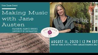 "Jane Austen & Co.: ""Making Music With Jane Austen,"" featuring music professor Jeanice Brooks"