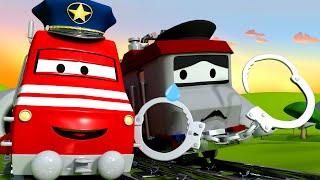 Troy de Trein Nederlands 🚄  De politietrein  🚄 Autostad - Trein cartoons voor kinderen