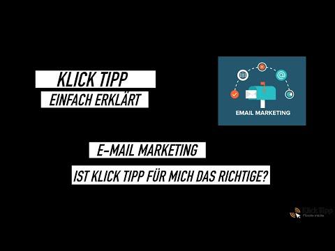 Klick Tipp - Ganz einfach erklärt - Email Marketing Tutorial 2021