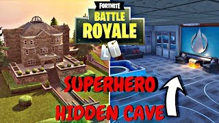 *MUST SEE* SECRET LOCATION! UNDERGROUND SUPERHERO CAVE! ( Fortnite BR )