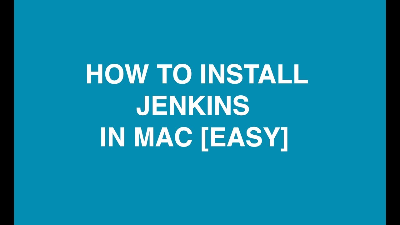 install jenkins osx