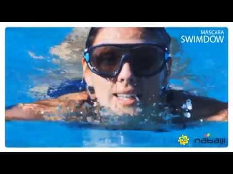 37600b7b0f27b Mascara De Natacao Swimdow Nabaiji Azulescuro - YouTube