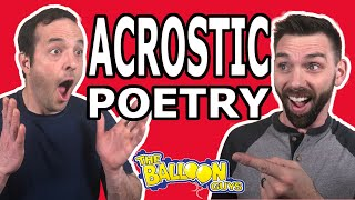 Learning Acrostic Poetry   The Balloon Guys