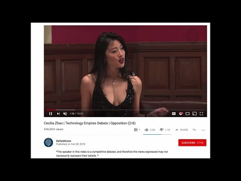 Asian Girl's Oxford Debate Speech Creates Online Drama - Let's Examine The Comments And Discuss