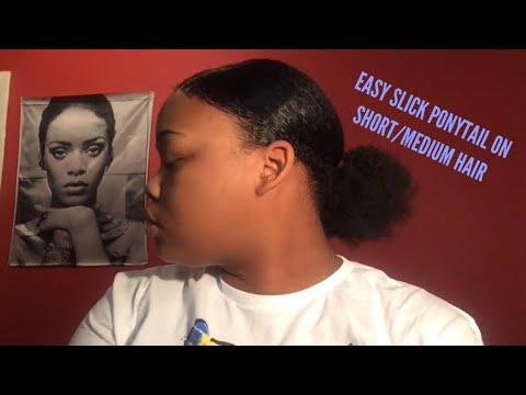 super-slick-ponytail-on-short/medium-length-hair-for-black-girls