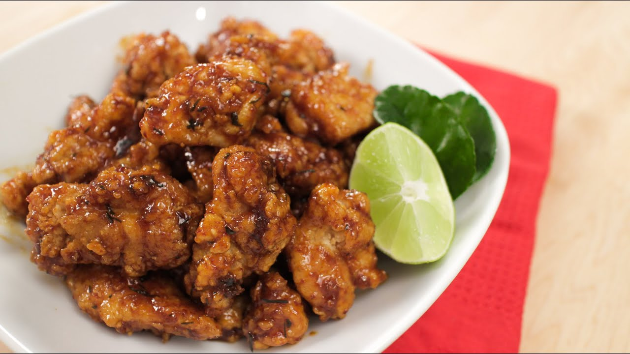 Hot Thai Chicken! - Fried Chicken in Sweet Chili Lime Sauce - YouTube