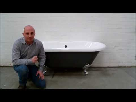 How to Paint a Freestanding Acrylic Bath / Bathtub - YouTube