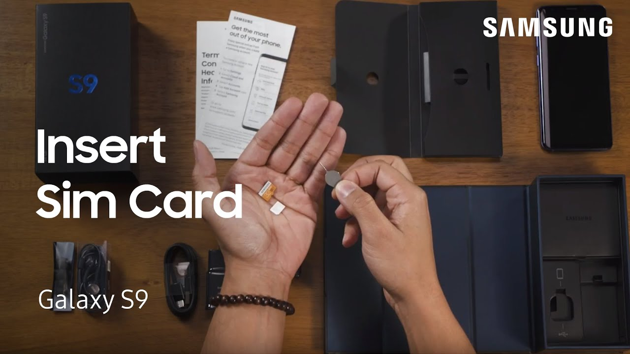 Insert or Remove the SIM and SD Card on the Galaxy S9|S9+