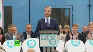 LIVE: Nigel Farage launches his Brexit Party's European Parliament campaign