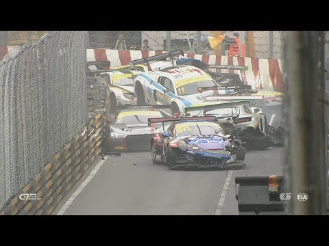 FIA GT World Cup 2017. Qualification Race Macau Grand Prix. Start | Huge Pile Up