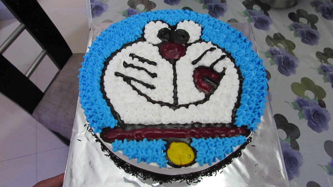 Eggless Doraemon Cake for Children in Hindi Cake Decoration YouTube