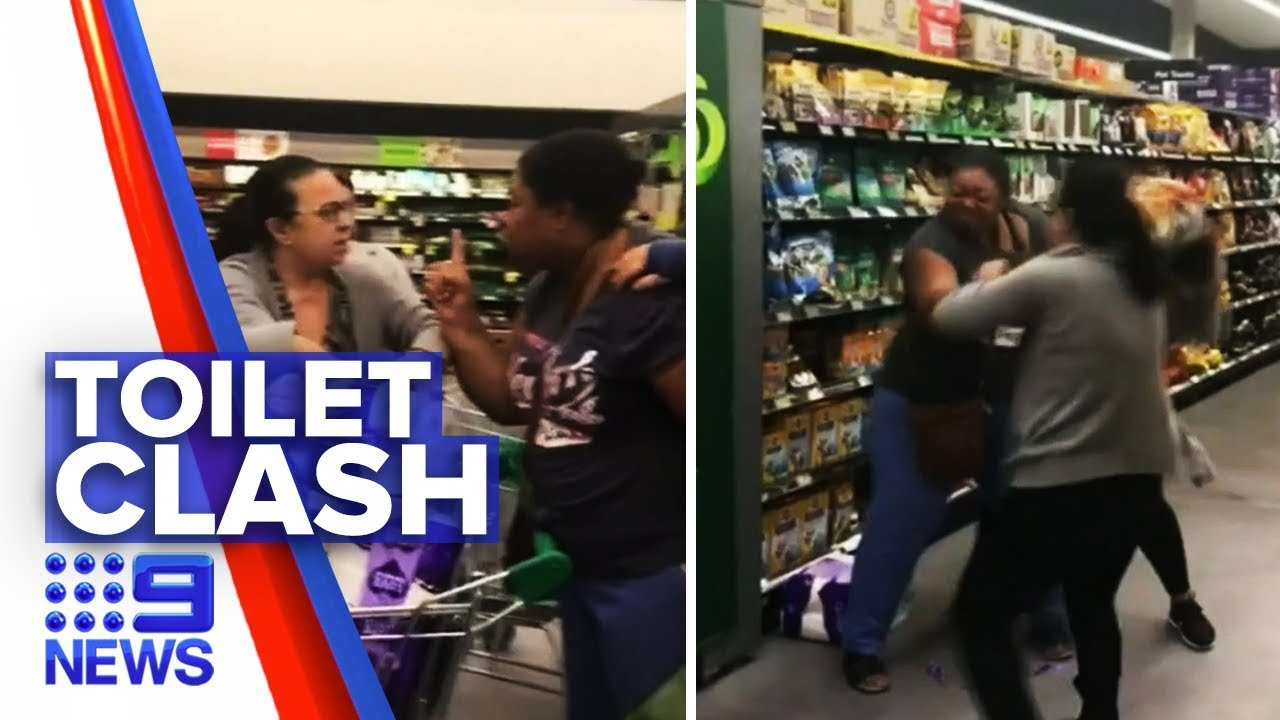 Shoppers charged over toilet paper brawl | Nine News Australia | Video