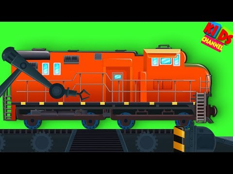 Train Toy Factory | Cartoon Videos For Toddlers | Learn Vehicles