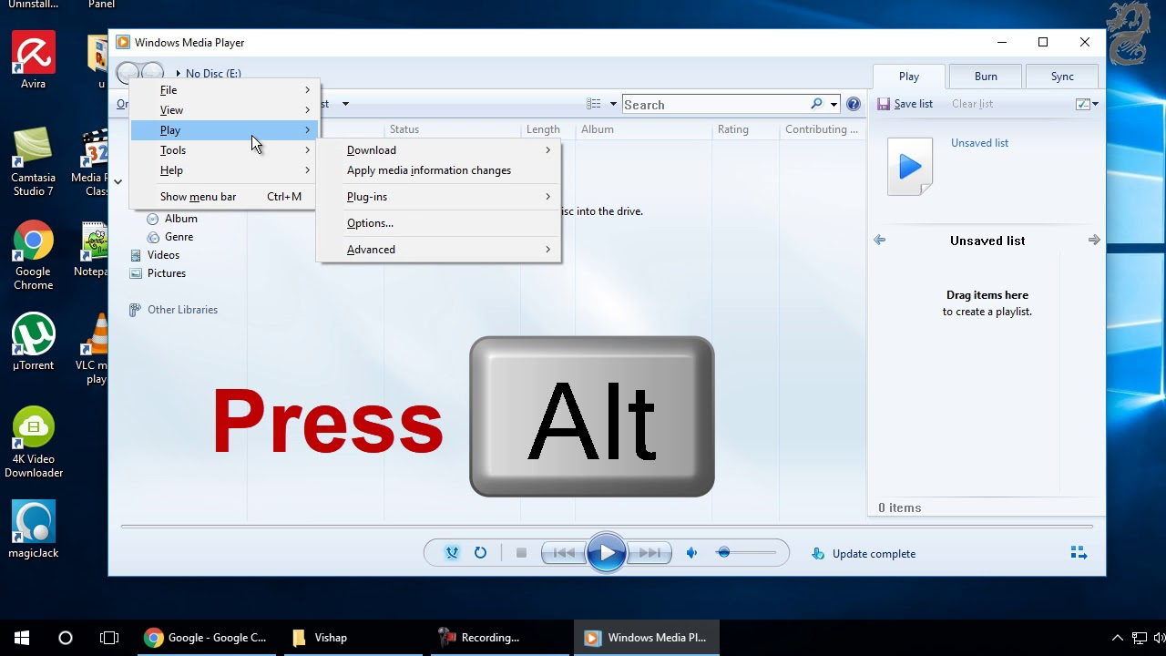 How to clear the Windows Media Player Cache
