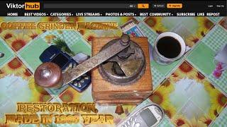Coffee Grinder Machine Restoration, 150 year old Do you like coffee?