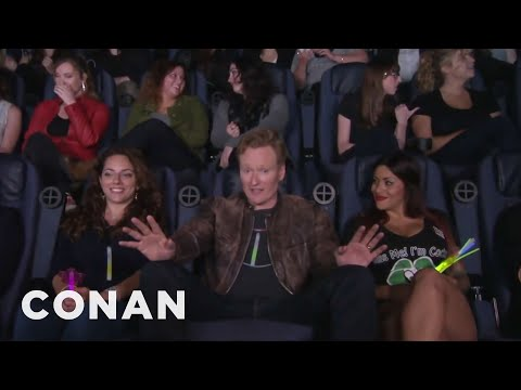 Conan Crashes A  Magic Mike XXL  Girls' Night Out  - CONAN on TBS