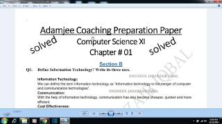 Solved adamjee guess paper computer 2019 computer 1st year 2019