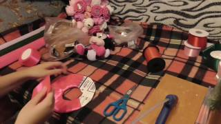 Букет из игрушки и конфет. Мастер класс для новичков