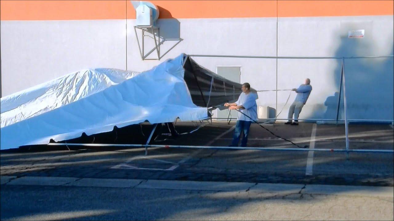 30x 60 Canopy Set Up