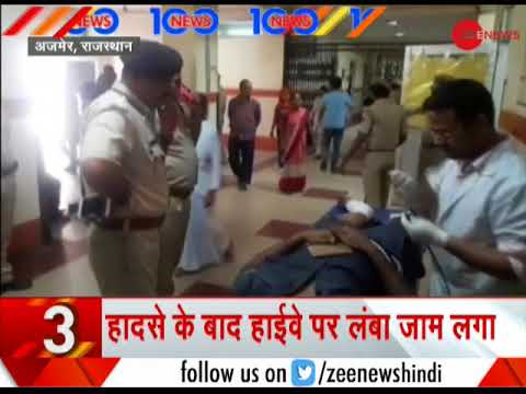 News 100: Major accident in Rajasthan's Ajmer; 12 killed, 21 injured as bus collides with truck