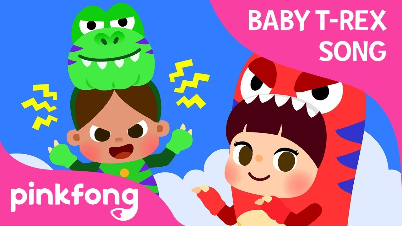 If I Were a T-Rex | Baby T-Rex Songs | Dinosaur Songs | Pinkfong Songs for Children
