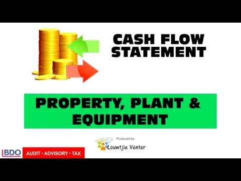 CASH FLOW STATEMENT 5 - Property, Plant & Equipment
