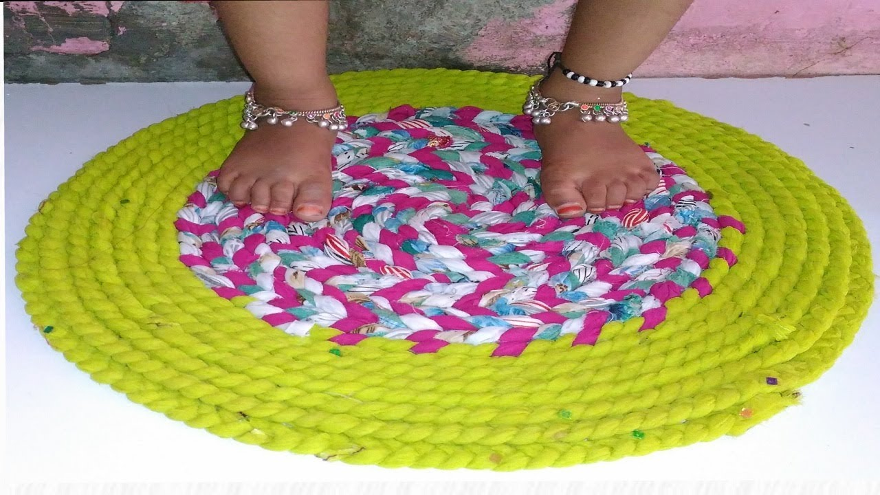 How to make doormat with old clothes | How to make doormats at home |  Doormat with old clothes