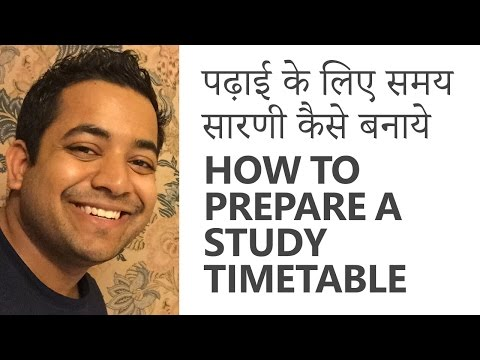 how to prepare a good study timetable