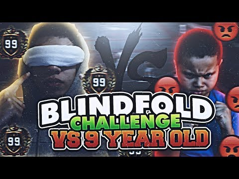 OMG 1V1 BLINDFOLD CHALLENGE AGAINST 9 YEAR OLD KID! HE RAGED AND CRIED! NBA 2K18 MyCOURT GAMEPLAY!