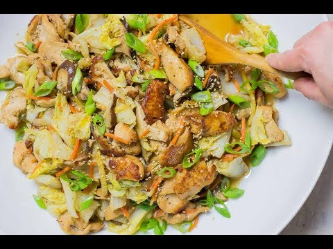 Chicken Cabbage Stir-Fry | Keto, Low Carb, Healthy, Easy, Paleo