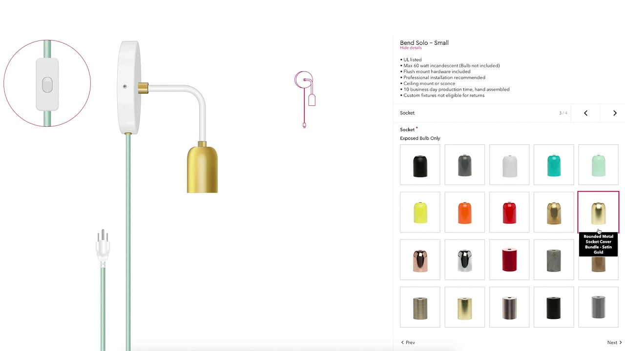 Light Fixtures With The Color Cord