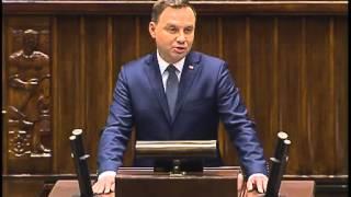 PIĘKNE orędzie prezydenta Andrzeja Dudy na VIII kadencję Sejmu!