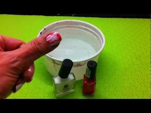 Tutorial de pintar las uñas de forma original-diseño al agua