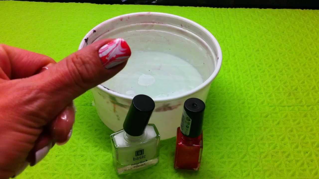 Tutorial de pintar las uñas de forma original-diseño al agua - YouTube