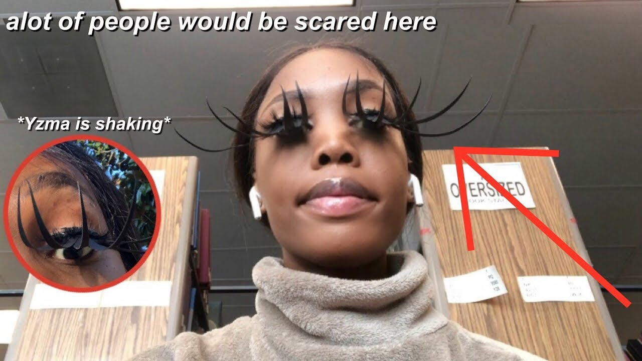 i wore the LONGEST lashes EVER to school AGAIN..but LONGER