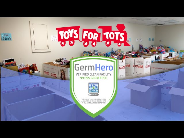 Toys for Tots in Bucks County PA is Germ Hero Verified!