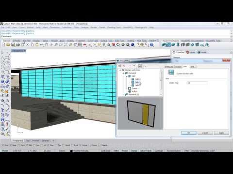 VisualARQ 1: Curtain Wall video