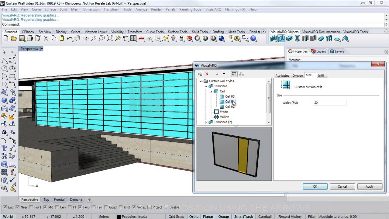 Visualarq 1 Curtain Wall Video Youtube