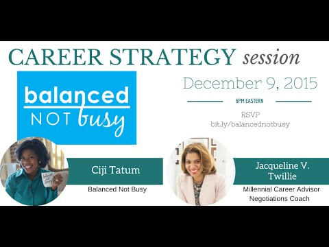 Career Strategy Session with Balanced Not Busy Founder, Ciji Tatum