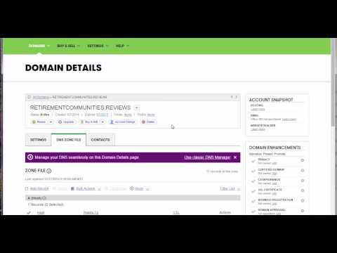 how to point domain to server using IP address setting with godaddy