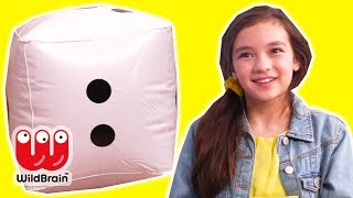 MAGICAL GIANT DICE PRANK 🎲 Empty Surprise Eggs! - Princesses In Real Life | WildBrain Kiddyzuzaa
